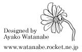 Designed by Ayako Watanabe created by Watanabe